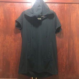 Columbia Omi Shade Hooded Athletic Black Top Shirt
